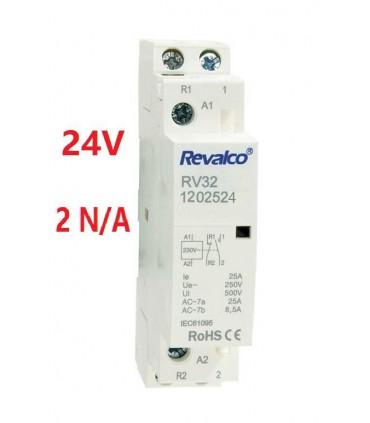 Contactor Modular 25A 2N/A 24Vac