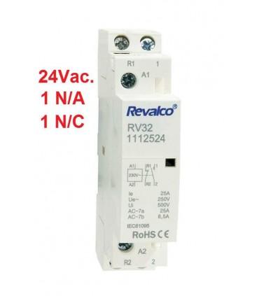 Contactor Modular 25A 24Vac 1N/A+1N/C