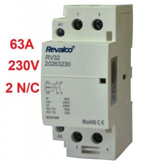 Contactor Modular 2P 63A - 230Vca 36mm 2N/C