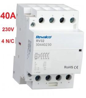 Contactor Modular 4P 40A - 230Vca 4 N/C