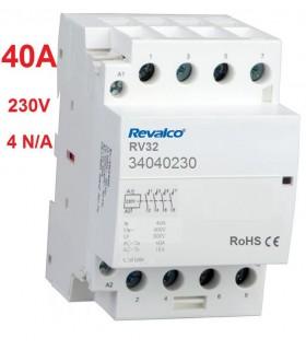 Contactor modular 4P 40A - 230Vca, 4N/A