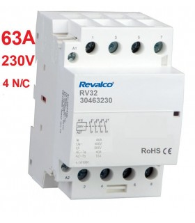 Contactor Modular 4P 63A, 230Vca 4 N/C