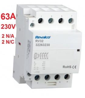 Contactor Modular 4P 63A, 230Vca, 2N/C 2N/A