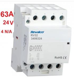 Contactor modular 4P 63A, 24Vca, 4N/A
