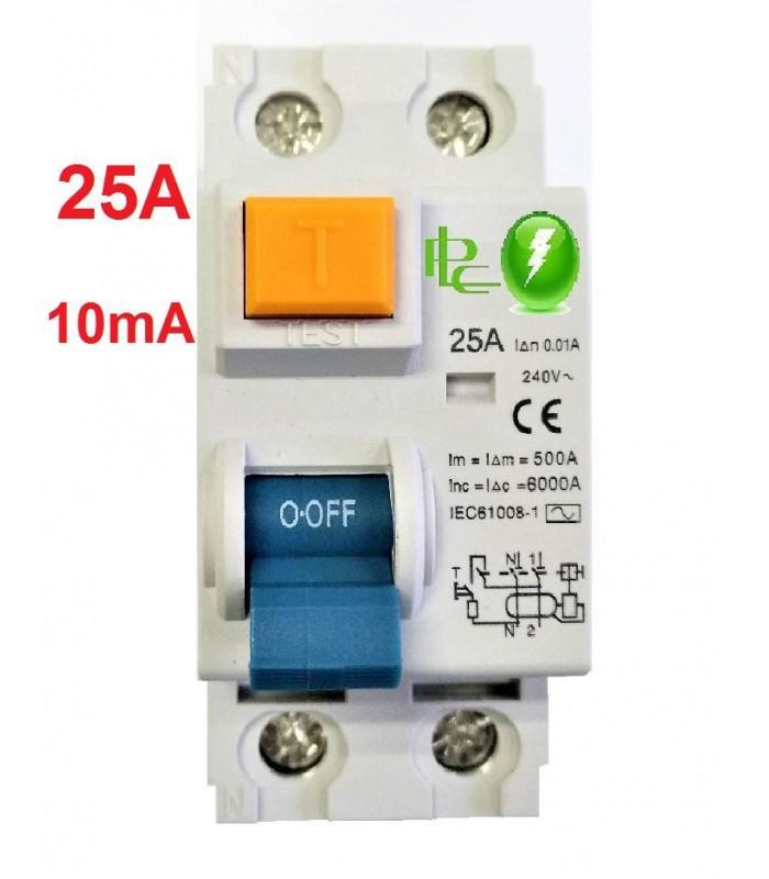 Diferencial 25A Sensibilidad 10mA Tipo AC