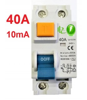 Diferencial 40A Sensibilidad 10mA Tipo AC, Zonas Húmedas