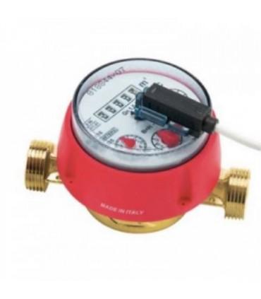 Contador de agua caliente con emisor de pulsos
