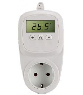 Enchufe con termostato electrónico digital