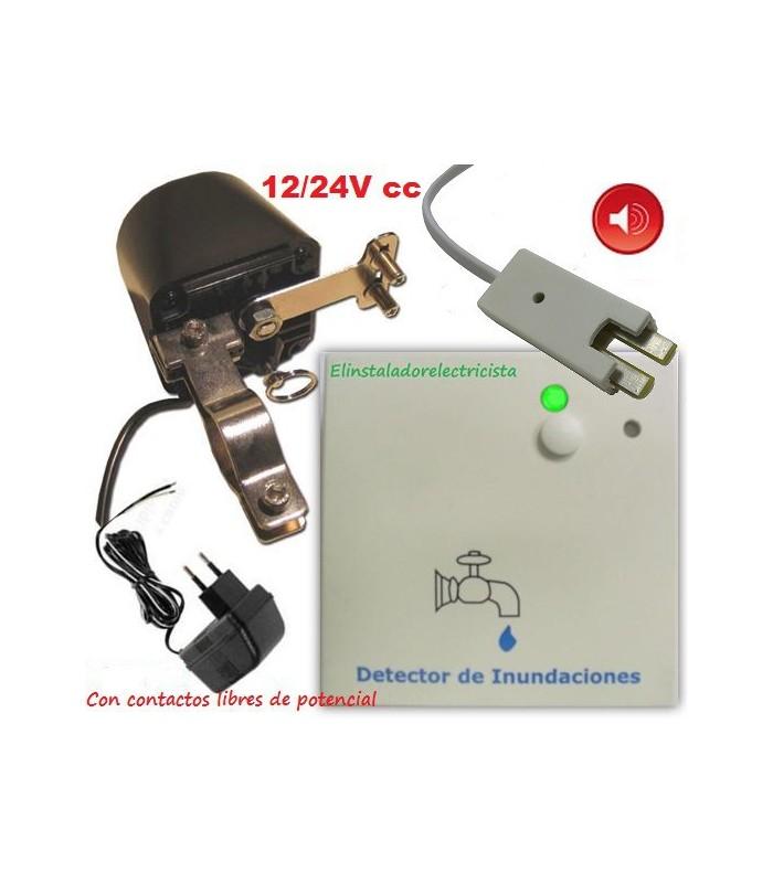 Kit detector de inundación + motor corte suministro + sonda