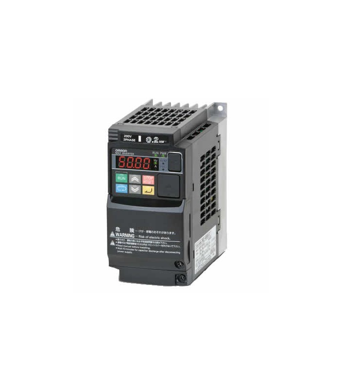 Variador 3G3MX2-A2002-E trifásico 0,2/0,4kW 1,6/1,9A Omron