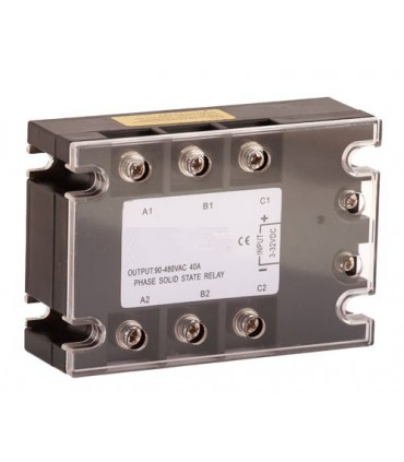 Relé 40A-3~32VDC de estado sólido
