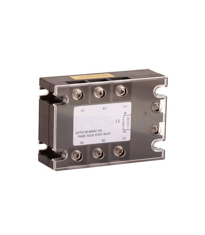 Relé de estado sólido 75A, 3~32VDC/80~250VAC
