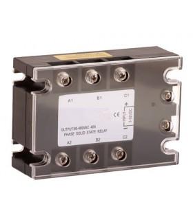 Relé 40A-80~250VAC de estado Sólido trifásico