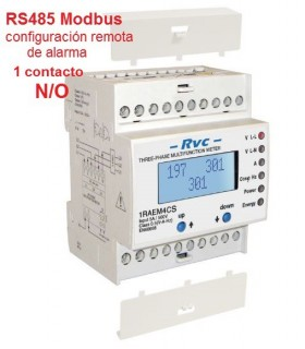 Analizador Trifásico de red RS485 Modbus 1 N/O