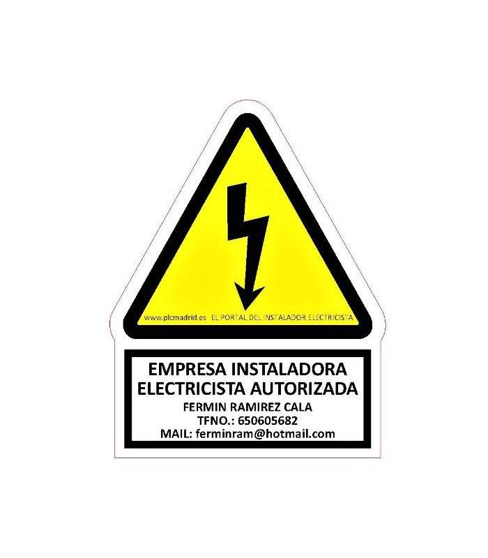 Señaletica personalizada para SGI de Riesgo eléctrico
