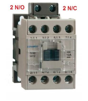 Contactor 4P 12A, 2N/O - 2N/C, bobina 230Vac