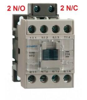 Contactor 4P 22A, 2N/O - 2N/C, bobina 230Vac