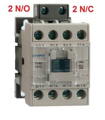 Contactor tripolar 40A,  2N/O 2 N/C bobina 230Vac