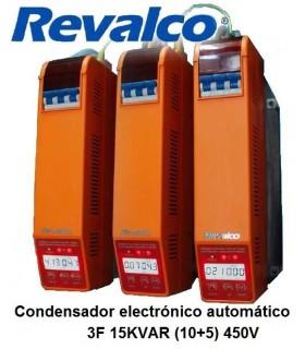 Condensador 15KVAR  energía reactiva 3F 450A. 400VAC.