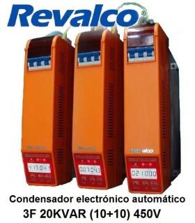Condensador 20KVAR  energía 3F (10+10) 450V