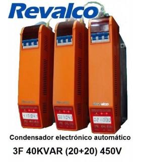 Condensador 40KVAR  energía 3F (20+20) 450V