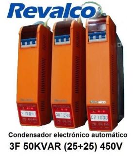 Condensador 50KVAR  energía 3F (25+25) 450V