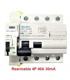 Rearmable 40A trifásico 30mA 10kA clase AC