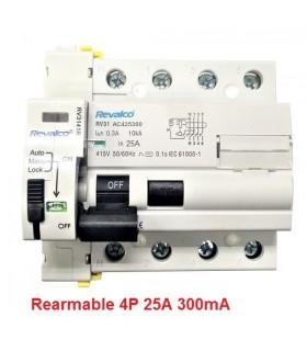 Rearmable 25A trifásico 300mA 10kA clase AC