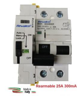Diferencial 25A 300mA Rearmable 2P 10kA