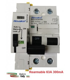 Diferencial 63A 300mA Rearmable 2P 10kA