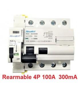 Rearmable 100A trifásico 300mA 10kA clase AC