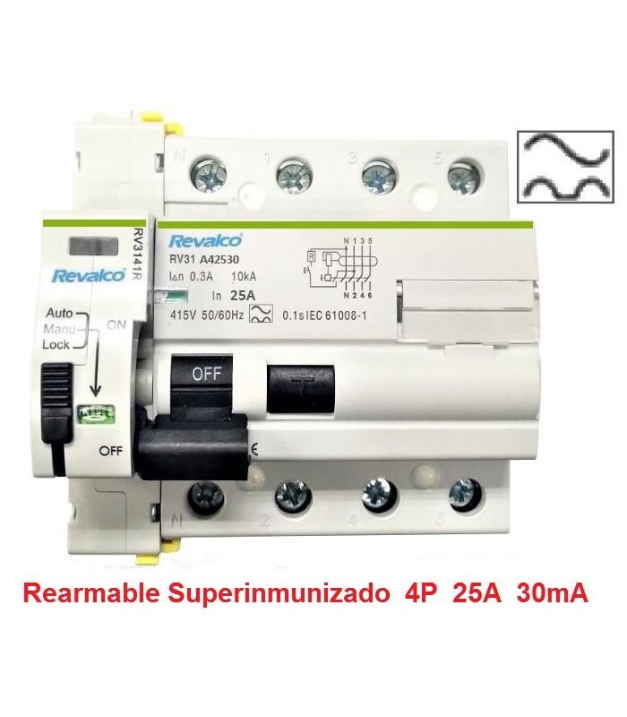 Superinmunizado 25A 30mA Trifásico 10kA Rearmable