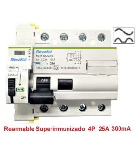 Superinmunizado 25A 300mA Trifásico 10kA Rearmable