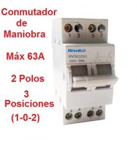 Conmutador 3 Posiciones 2 Polos 63A