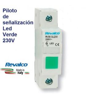 Piloto Verde LED de señalización RV35
