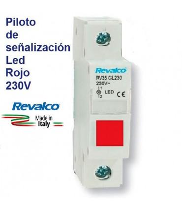 Piloto Rojo LED de señalización RV35