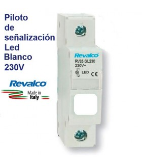 Piloto Blanco LED de señalización RV35