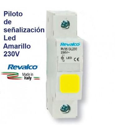 Piloto Led Amarillo de señalización RV35