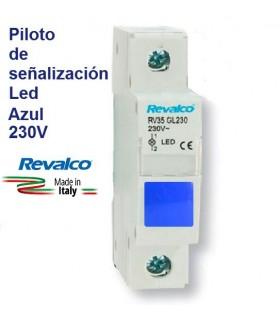 Piloto Led Azul de señalización RV35