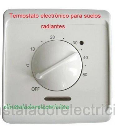 Termostato electrónico para control de suelos radiantes c/Sonda 3 metros