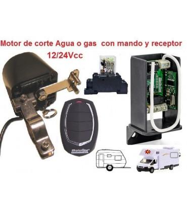 Motor Corte de Suministro con Receptor y Mando