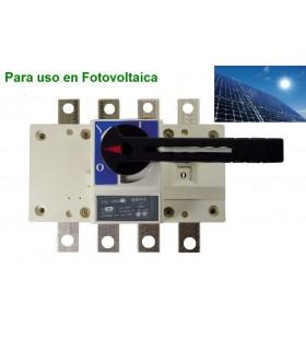 Seccionador 4P 160A, de corte en carga Fotovoltaica