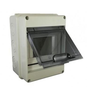 Armario superficie 5 módulos tapa transparente IP65
