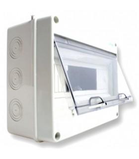 Armario superficie 12 módulos tapa transparente IP65