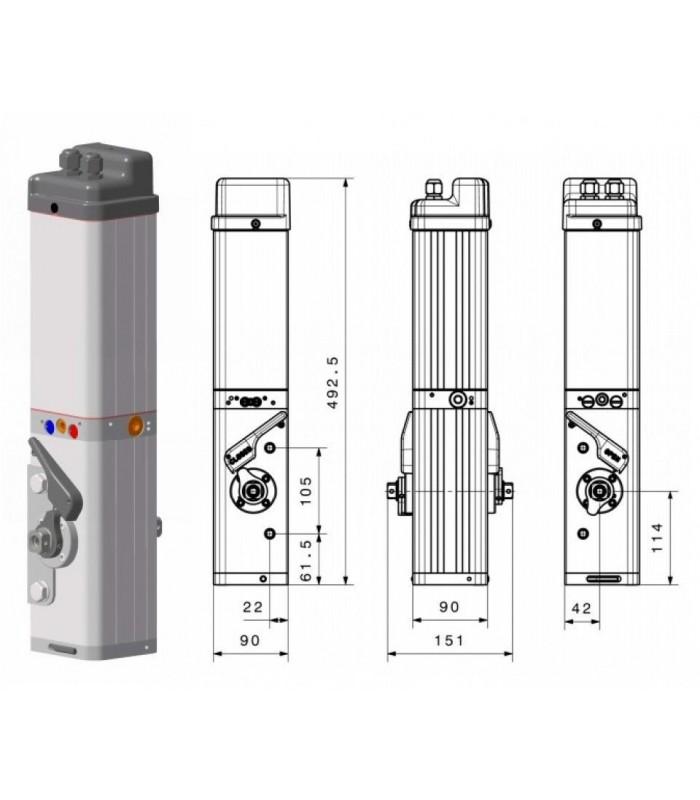 Accionador hidráulico puerta Basculante