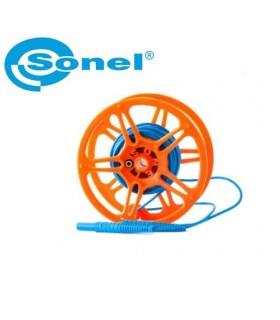 Cable prueba carrete 15m Azul