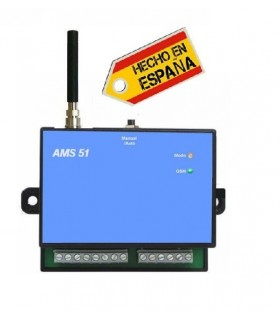 Controlador GSM 2 relés entrada + temperatura interna