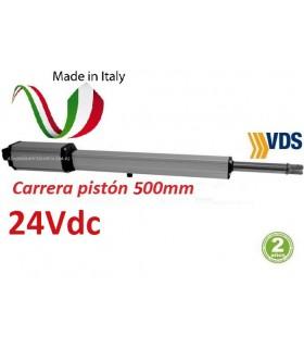Motor Linear11C500 puerta batiente 24V carrera pistón 500mm.
