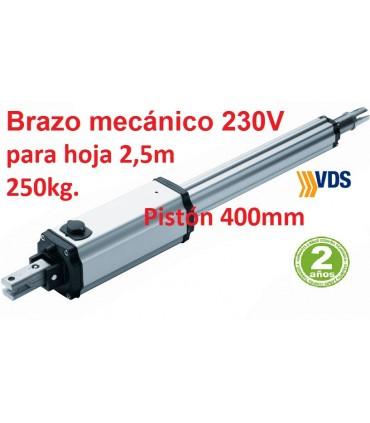 Motor PM1-C400 irreversible puerta batiente 2,5m y 250kg. VDS