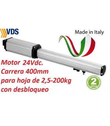 Motor PM1SC C400 irreversible puerta batiente 2,50m y 200kg. VDS